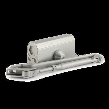 Доводчик Нора-М №2s F (50кг) - серебро - с фиксацией