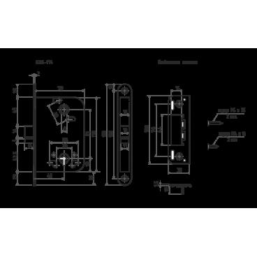 Защелка Нора-М КЗВ-114 (72 мм) - хром