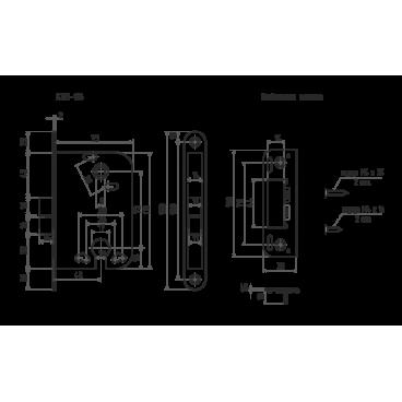 Защелка межкомнатная Нора-М КЗВ-118 (хром) под цилиндр