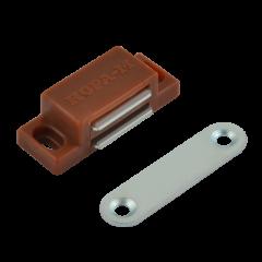 Защёлка магнитная Нора-М №4 (42мм) (коричневая)