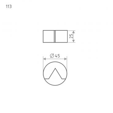 Ограничитель дверной Нора-М 113 (мат.никель)