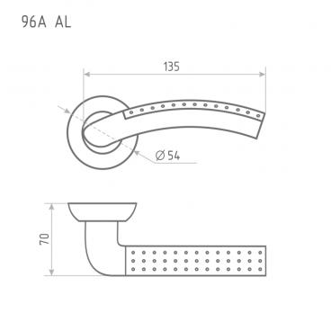 Ручка дверная Нора-М AL 96A AL (ст. бронза)