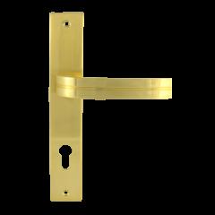 Ручка дверная на планке Нора-М 106-85 мм (хром)