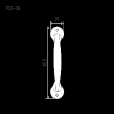 Нора-М РСО-50 овальная (ст.медь)