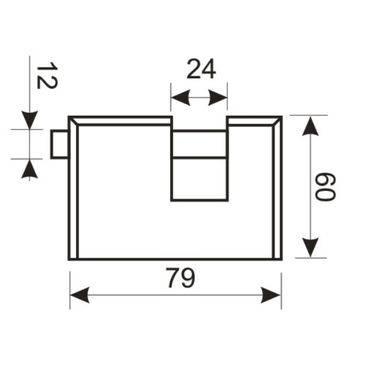 Замок навесной Аллюр ВС2-3-02С (НВХ-970)