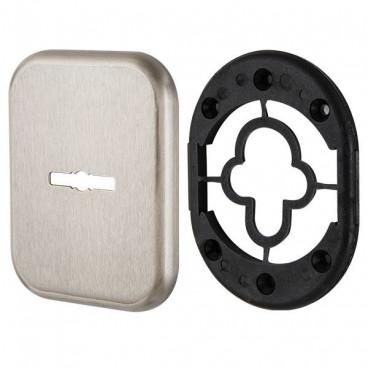 Декоративная Квадратная накладка на сувальдный замок PS-DEC SQ (ATC Protector 1) SN-3 Мат.никель