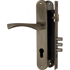 Корпус замка в комплекте с ручкой SET F9011W/B AB