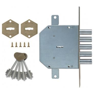 Замок врезной сувальдный 50.798 D (правый/левый), ключ 40/60 мм