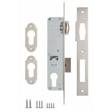 Корпус замка врезного цилиндрового узкопроф. Kale 155 (35 mm) w/b (никель)
