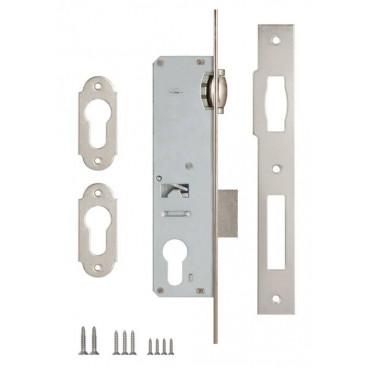 Корпус замка врезного цилиндрового узкопроф. Kale 155 (25 mm) w/b (никель)