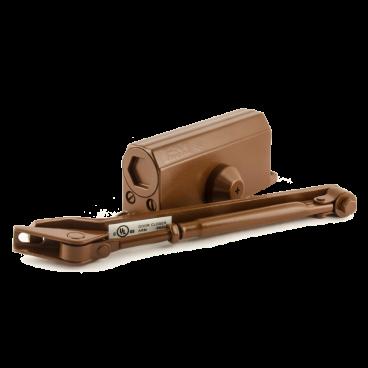 Доводчик Нора-М №2s F (50кг) - коричневый - с фиксацией