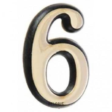 Большая пластиковая самоклеящаяся цифра 6 и 9 (золото)