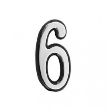 Большая пластиковая самоклеящаяся цифра 6 и 9 (хром)