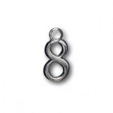 Металлическая самоклеящаяся цифра 8 (серебро)