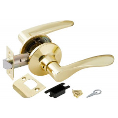 Ручка защелка 6020 PB-P (без фик.) золото