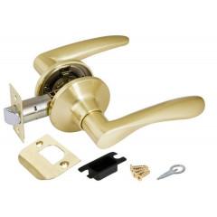 Ручка защелка 6020 SB-P (без фик.) мат. золото