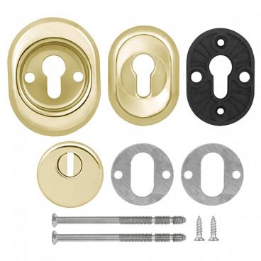 Броненакладка врезная с чашкой Fuaro DEF 9726 M6x90 GP золото