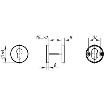 Накладка Fuaro под цилиндр DSS-02-ET (нержавейка)