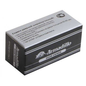 Глазок дверной Armadillo, пластиковая оптика DV1, 16/35х60 CP Хром