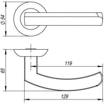 Ручка раздельная Fuaro ALFA AR CP-8 хром, квадрат 8x140 мм, стяжки M4(10*50*50)