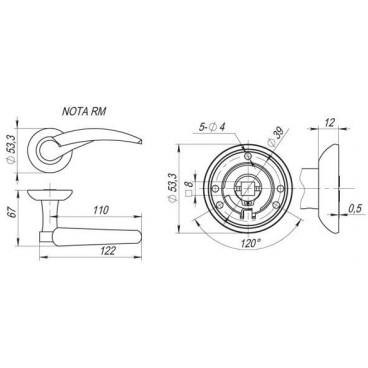 Ручка раздельная NOTA RM AB/GP-7