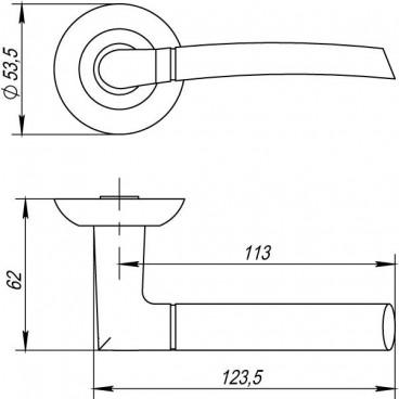 Ручка раздельная ARDEA TL ABG-6 зеленая бронза
