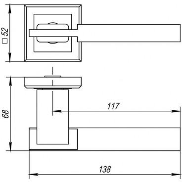 Ручка раздельная CITY QL SN/CP-3 матовый никель/хром