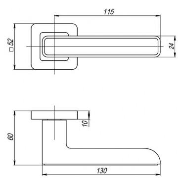 Ручка раздельная MARS QR SN/WH-19 матовый никель/белый