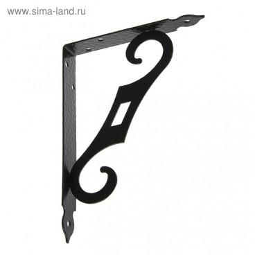 Кронштейн декоративный КД-200-145 черный матовый