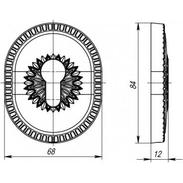 Декоративная накладка на цилиндр ET-DEC CL (ATC Protector 1) GP Золото