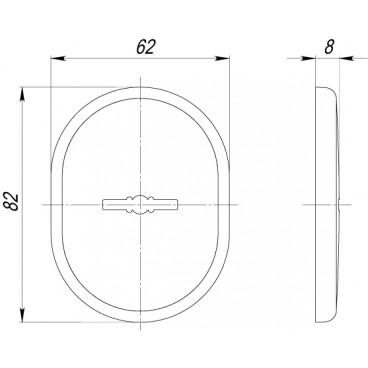 Декоративная накладка на сувальдный замок со шторкой PS-DEC CT (ATC Protector 1) CP-8 Хром