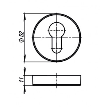 Накладка CYLINDER ET URB CP-8 Хром, 2 шт