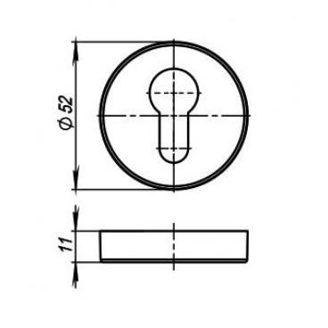 Накладка CYLINDER ET URB BPVD-77 Вороненый никель 2 шт