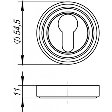Накладка под цилиндр ET ML SN/CP-3 матовый никель/хром