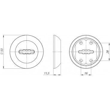 Накладка под сувальдный ключ SC RM ABG-6 (1 шт.)