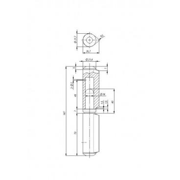 Петля приварная T2/150-22 с подшипником