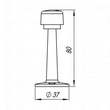 Упор дверной Punto DS PW-80 SN-3 матовый никель