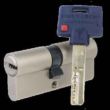 Механизм цилиндровый Mul-T-Lock Interactive+ (55х75) кл/кл Никель