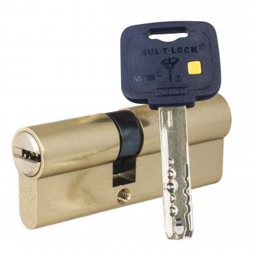 Механизм цилиндровый Mul-T-Lock MT5+ (55х80) кл/кл Латунь
