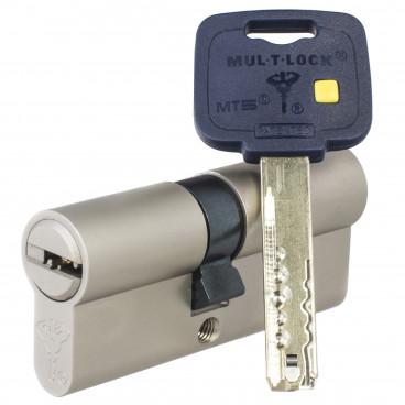 Механизм цилиндровый Mul-T-Lock MT5+ (55х55) кл/кл Никель