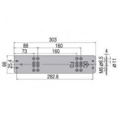 Монтажная пластина ASSA-ABLOY DC106 silver для DC340/347