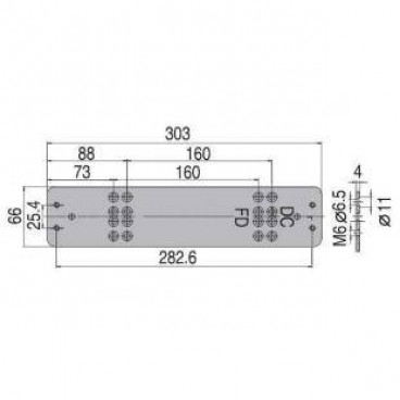 Монтажная пластина ASSA-ABLOY DC106 white для DC340/347