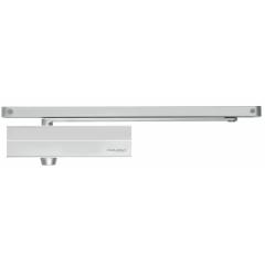 Шестеренно-реечный доводчик ASSA-ABLOY DC135 silver, с антивандальным клапаном и back check, усилие EN3 cо скользящей тягой (G143)