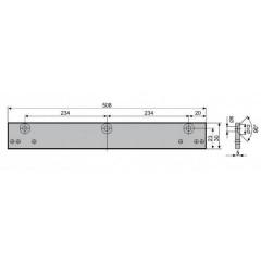Mонтажная пластина ASSA-ABLOY A130 brown для скользащей тяги DCG195