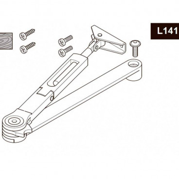 Рычажная тяга с фиксацией ASSA-ABLOY DCL141 brown для DC110/120/140