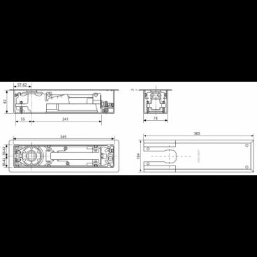 Напольный доводчик ASSA-ABLOY DC475 EN3-6