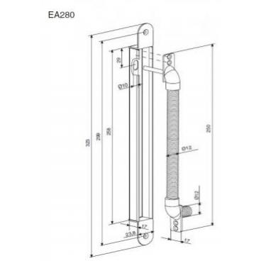 Кронштейн для крепления электрического кабеля Abloy EA280