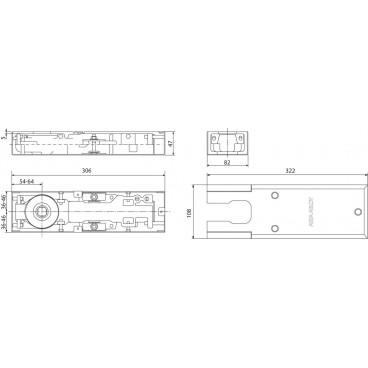 Напольный доводчик ASSA-ABLOY DC420