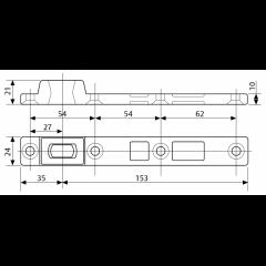 Нижняя универсальная петля ASSA-ABLOY A393