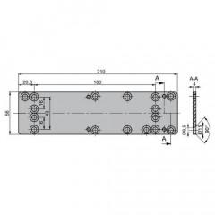 Монтажная пластина ASSA-ABLOY A124 silver для DC336/500/700